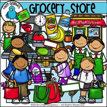 Grocery Store Clip Art - Chirp Graphics