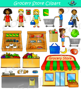 grocery store clipart shopping by i 365 art teachers pay teachers rh teacherspayteachers com grocery store clipart free grocery store building clipart