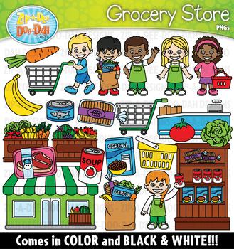 Grocery Store Community Helpers Clipart {Zip-A-Dee-Doo-Dah Designs}
