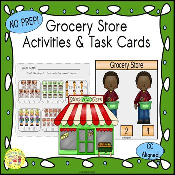 Grocery Store Clip Task Cards