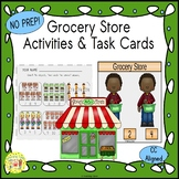 Grocery Store Activities and Task Cards