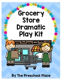 Grocery Store Dramatic Play Kit- Preschool, Prek, Kindergarten, Money, Math