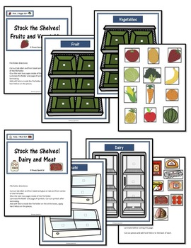 Special Education Grocery Store File Folder Activities