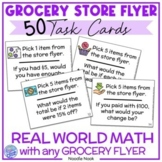 Grocery Store Flyer Task Card Activity- Functional Math for SpEd and Life Skills