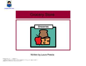 Grocery Store - Interactive Book [speech therapy and autism]