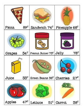 Grocery Store Item Cards