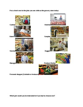 Grocery Store Job Hunt