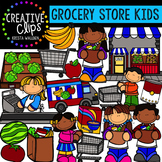 Grocery Store Kids {Creative Clips Digital Clipart}
