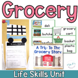 Grocery Store Life Skills Unit for Special Education (Autism Resource)