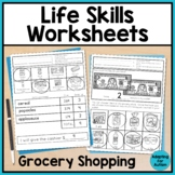 Grocery Store Life Skills Worksheets - Life Skills Special