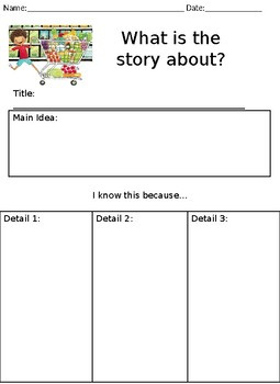 Grocery Store Literacy Center Worksheets