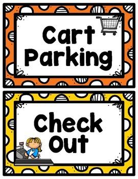 Grocery Store/Market Dramatic Play for PreSchool, Kindergarten & Homeschool