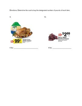 Grocery Store Math