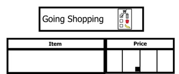 Adapted Grocery Store Math Activities with visual supports