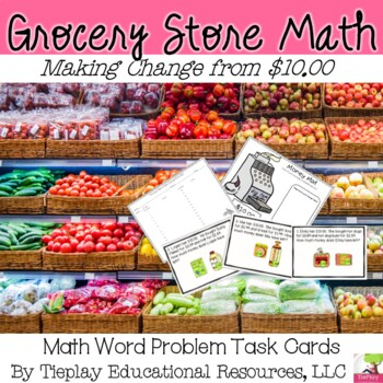 Grocery Store Math Money and Change From $10.00