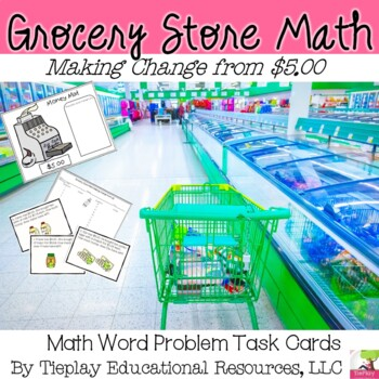 Grocery Store Math Money and Change from $5.00