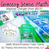 Grocery Store Math Money and Change Word Problems from $5.00 Math Center Station