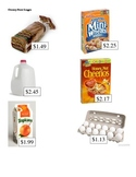 Grocery Store Math Images- Addition and Subtraction with m