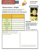 Grocery Store Math:  Measurement: Heavy vs Light, Weight