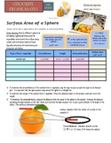 Grocery Store Math:  Volume of Sphere, Graphing Data