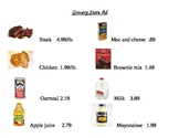 Grocery Store Ad Math Worksheets
