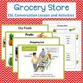 Grocery Store/Supermarket  Vocab and Activities Bundle