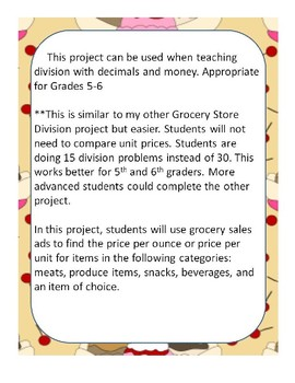 Grocery Store Prices Division Project