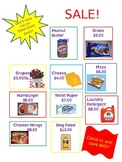 Grocery Store Sale Flyer for Math Station 3