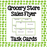 Grocery Store Sales Flyer Task Cards