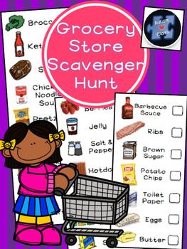 Grocery Store Scavenger Hunt