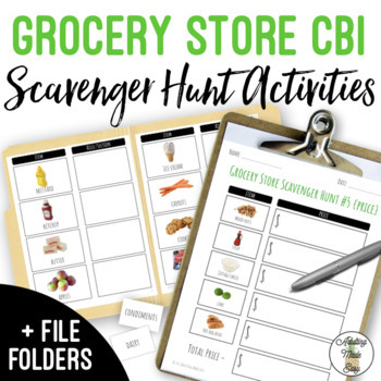 Grocery Store Scavenger Hunt With Visuals - Life Skills Shopping CBI