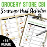 Grocery Store CBI Scavenger Hunt Activities & File Folders #springintosped2
