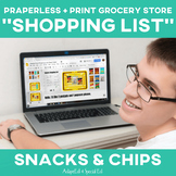 Special Education Grocery Store Shopping Lists: Chips and Snacks