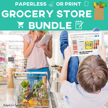Grocery Store Shopping Lists: GROWING BUNDLE Life Skills