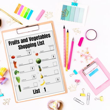 Grocery Store Shopping Lists GROWING BUNDLE Life Skills TpT