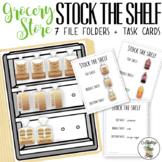 Grocery Store Stock The Shelf File Folder Vocational Skills #spedprepsummer2