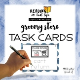 Grocery Store Task Cards {Reading in Real Life}