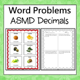 ASMD Decimals Word Problems