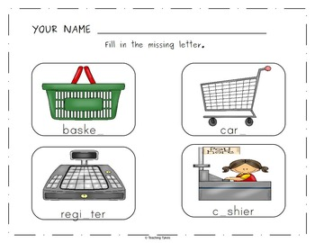 Grocery Store Worksheets Activities Games Printables and More