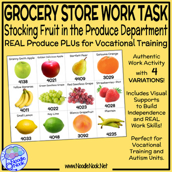 Grocery Store Vocational Work Task- Fruit in the Produce Section