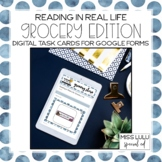 Grocery Words Digital Task Cards for Distance Learning w/
