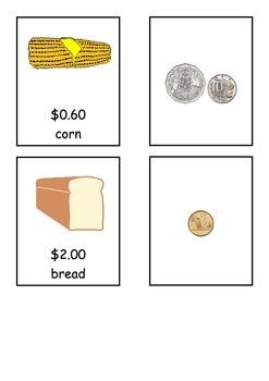Austrlian Money: Grocery Item Match *less than $2**