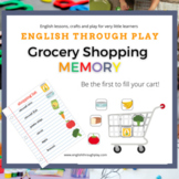 Grocery shopping memory game - great for ESL preschool and