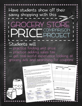 Grocery store price comparison project: real-world math
