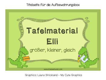 Grösser - kleiner - gleich *Tafelmaterial Elli* by ...