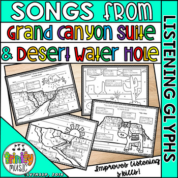 Grofe Listening Glyphs for Grand Canyon Suite & Desert Water Hole