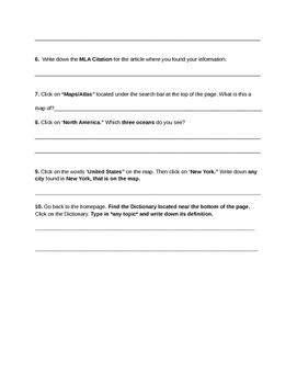 Groiler Online/Scholastic Go! Online Scavenger Hunt