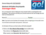 Scholastic GO Online Encyclopedia Scavenger Hunt Activity