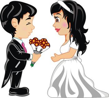 Groom and Bride clip art