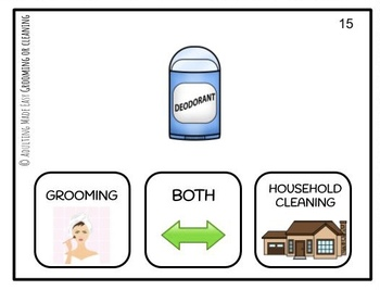 Cleaning or Grooming Supplies? Life Skills Task Cards